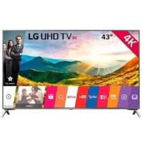 Smart TV LED 43'' LG 4K 43UJ6525 Conversor Digital