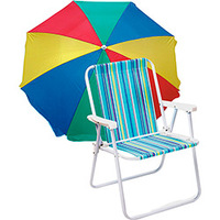 Guarda-sol Mor Frevo 160cm + Cadeira de Praia Ibiza Aço Alta Adulto ... 1e77e5623e