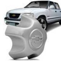 Calota Centro Miolo De Roda Aro 15 E 16 Chevrolet S10 99 A 01 Blazer 99 A 01 Prata Furação 5x120
