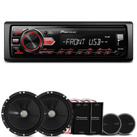 Mp3 Player Pioneer Mvh-98Ub 1 Din + Kit 2 Vias Pioneer Ts-C170br 6' 120W Rms