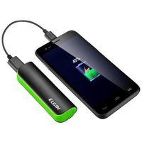 Carregador de Bateria Portátil Elgin CP 2600mAh Preto e Verde + Cabo USB