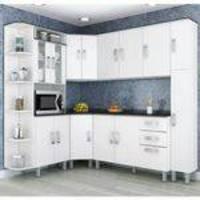 Cozinha Compacta Modulada 7 Peças Branco Poliman