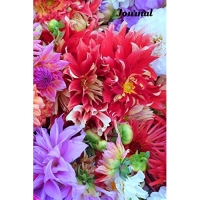 Journal: Bright beautiful flowers on a blank lined notebook - Mother's Day, Birthday, Any Day