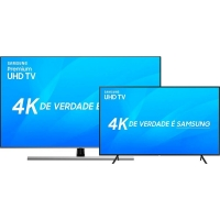 Smart TV LED 75 Premium UHD 4K Samsung 75NU8000 + Smart TV LED 40 Samsung 4K 40NU7100