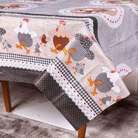 Toalha de Mesa Quadrada Solecasa Plástica 1.40x1.40m Happy Chicken