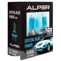 Kit Lâmpada Do Farol Alper H8 Crystal Blue Power 4200k Luz Branca