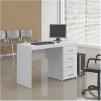 Mesa para Computador Politorno Malta Escrivaninha com 4 Gavetas Branca