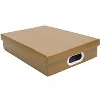 CAIXA RETANGULAR A4 KRAFT MARROM 7X25CM  398502 Boxgraphia