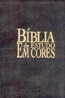Bíblia de Estudo em Cores - Capa Preta de Couro