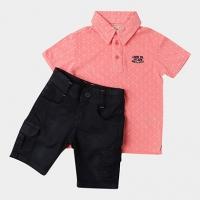Conjuntos Lapsi Infantil Polo+Walk De Sarja - Masculino