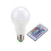 Lampada Led Rgb Colorida 16 Cores Com Controle Remoto 3w