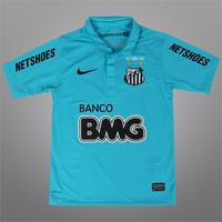01590e9aa46f9 Camisa Nike Santos III 2012 Centenário Infantil Azul Turquesa
