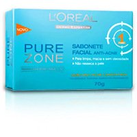 Sabonete Facial L'Oréal Paris Anti-Acne Pure Zone 70g Dermo Expertise