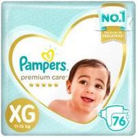 Fraldas Pampers Premium Care Tamanho XG 76 Unidades