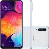 Smartphone Samsung Galaxy A50 SM-A505G Desbloqueado Dual Chip 128GB Android 9.0 Pie Branco