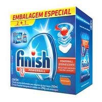 Kit Especial Para Máquina De Lavar Louças Finish 2 Finish Tablet Powerball 294g + 1 Finish Secante Abrilhantador 250ml