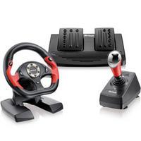 Volante Multilaser GT JS050 Shift + Câmbio + Pedal para PC / PS2 / PS3