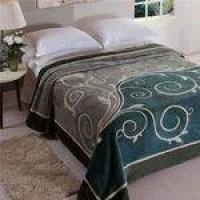 Cobertor Raschel Poliester Jolitex Bruma King Size 220x240cm Verde