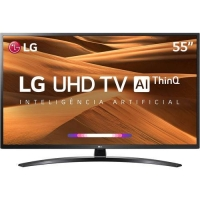 Smart TV Led 55 LG 55UM7470PSA UHD Thinq Ai Wi-Fi Conversor Digital Integrado Preto