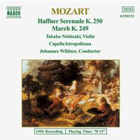 Wolfgang Amadeus Mozart - Haffner Serenade K.250 / March K.249