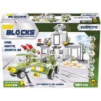 Blocos de Montar Bee Me Toys Exército Entreposto de Guerra 424 Peças