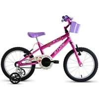 Bicicleta Infantil Stone Bike Skii Aro 16 Feminina Pink