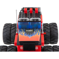 Blocos de Montar Bee Me Toys Bee Blocks Cidades Monster Truck 375 Peças