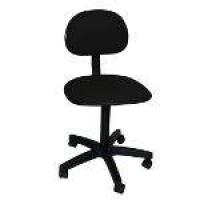 Cadeira Secretária Giratória Tropical Corano Preto Com Regulagem De Altura Manual
