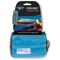 Lençol para Saco de Dormir Sea To Summit Coolmax Adaptor Liner Azul