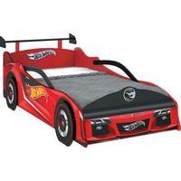 Cama Hot Wheels Pura Magia  Premium Com Aerofólio Vermelha e Preto