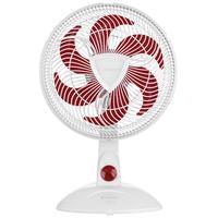 Ventilador de Mesa Cadence Ventilar Eros Supreme VTR360 30cm Branco e Vermelho 110V