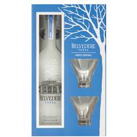 Vodka Belvedere Pure 700 ml + 2 Copos Martini