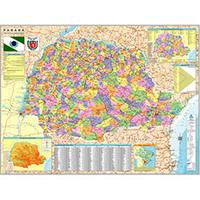 Mapa Geomapas 6749613 do Paraná Político e Rodoviário