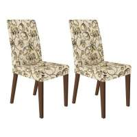Conjunto 2 Cadeiras 4129 Madesa Rustic lirio Bege