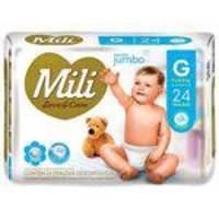 Kit 9 Pcts Fralda Mili Love Care 216Unds-Tam.G