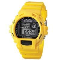 Relógio Unissex Digital Cosmos Os41379y Amarelo