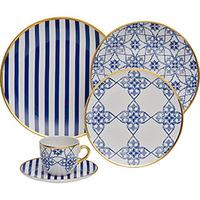 Aparelho De Jantar Oxford Porcelana Lusitana 42 Peças Preços Com
