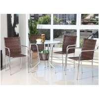 Conjunto De Mesa Para Jardim Área Externa Com 4 Cadeiras Alegro Móveis Cjmb401315