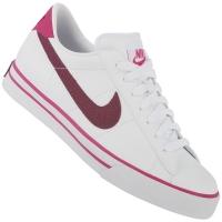 ... 101f18c346d Tênis Nike Sweet Classic Leather Branco e Rosa JáCotei ... 4339c9fa8a20a