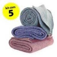 5pç Cobertor Casal 180x210cm Corta Febre Popular Para Doação