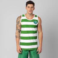 Camiseta Regata Palmeiras Listrada Masculina Verde e Branca  ea5c6ccd85b