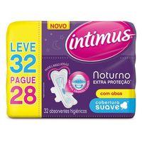 Absorvente Intimus Noturno Extra Proteção Com Abas