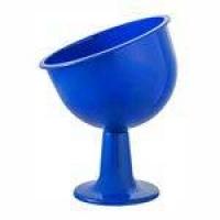 Taça Inclinada Media Azul Royal Acrílica Para Doces