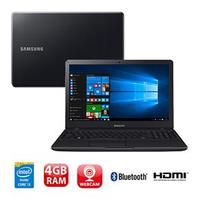 Notebook Samsung Essentials E34 NP300E5K-KF1BR  Intel Core i3-5005U 4GB 1TB 2.0 GHz Windows 10 Preto