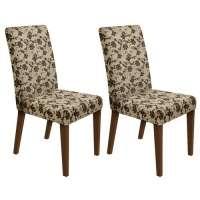 Conjunto 2 Cadeiras 4128 Madesa Rustic bege marrom