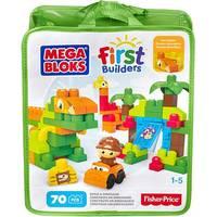 Blocos de Montar Fisher Price Mega Bloks First Builders Dinossauro 70 Peças