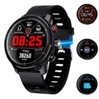 Relógio Smartwatch Masculino Touch Screen Bluetooth Lemfo L5 Preto
