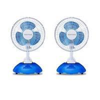 Kit Ventilador Mini de Mesa Ventisol 2 em 1 20cm Branco Azul 2 Unidades