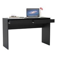 Escrivaninha Mesa Para Computador Politorno Lindóia 2 Gavetas Preta