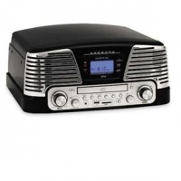 Toca Discos CTX Harmony com CD Player 10W Preto
